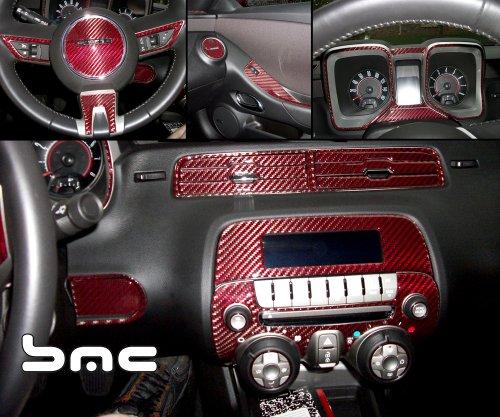 2010 chevrolet camaro automatic interior main dash trim kit red black carbon fiber w floor. Black Bedroom Furniture Sets. Home Design Ideas