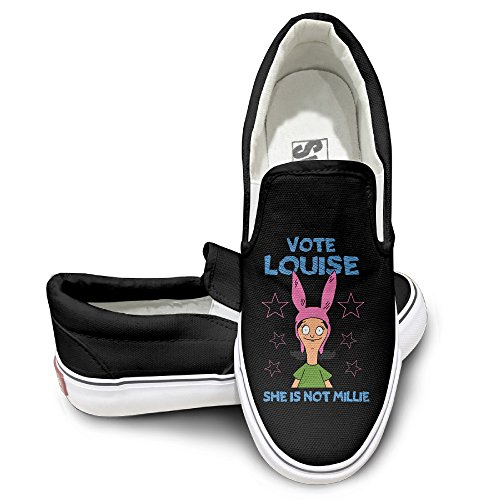 [CYANY Bob's Animated Sitcom Burgers Vote Louise Design Sport Shoes Dancing Black] (Bobs Burgers Couples Costume)