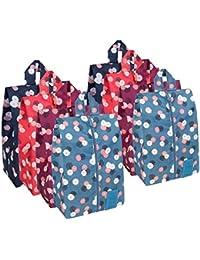 Portable Multicolor Nylon Travel Shoe Storage Organizer Bag (8 Colors)
