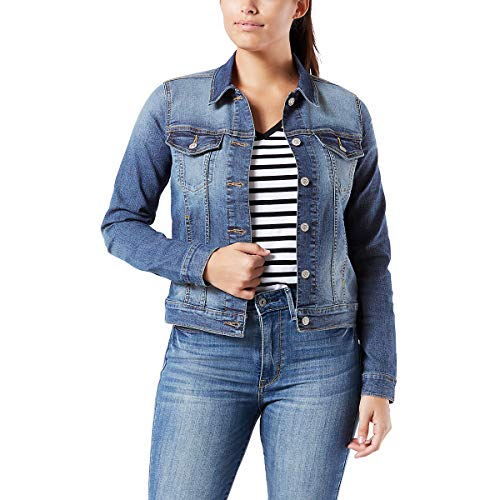 (Signature by Levi Strauss & Co Women's Original Trucker Jacket, Bae, L)