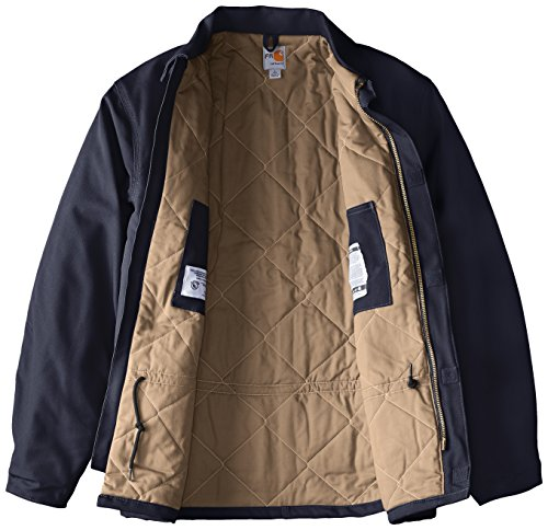 Carhartt Men's Big-Tall Flame Resistant Duck Traditional Coat, Dark Navy, X-Large/Tall by Carhartt (Image #3)