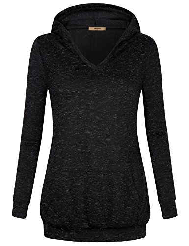 Hoodies for Girls, Miusey Womens Floral Print Aesthetic Funny Shirt Cheap Street Wear Cute Tops Boho Collision Faded Nice Versatile Blouse Ethnic Relaxed Fit Long Sleeve Tunic Sweatshirt Black (Cheap Tie Dye Shirts)