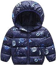 Happy Cherry Kid's Down Jacket Ultra Light Warmth Outerwear Children Winter Out