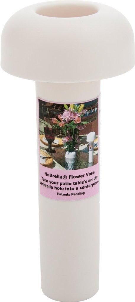 Amazon.com : NoBrella Flower Vase Patio Table Umbrella Hole Insert, White :  Garden U0026 Outdoor
