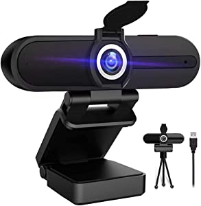 4K Webcam with Microphone,8 Megapixel Webcam,Ultra HD PC Computer Web Camera,Laptop Desktop Camera,USB Webcam with Privacy Cover,Pro Streaming Webcam for Video Calling