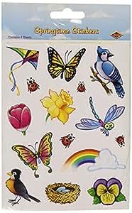 Springtime Stickers   (4 Shs/Pkg)