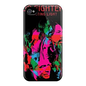 Shock-Absorbing Hard Phone Cases For Iphone 4/4s With Customized Attractive Foo Fighters Series SherriFakhry
