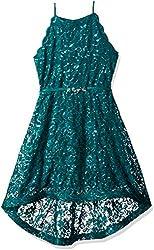 Girls Big Sequin Lace Maxi Dress