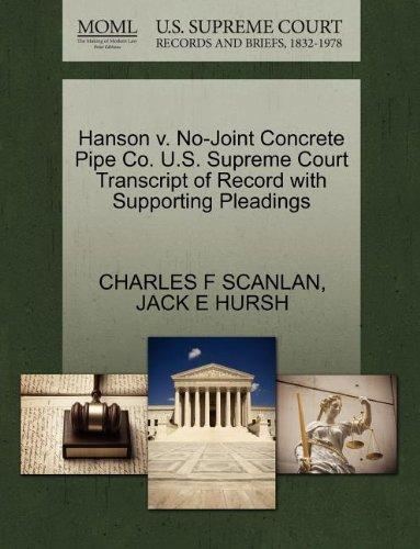 Buy Hanson V  No-Joint Concrete Pipe Co  U S  Supreme Court