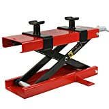 ZENY 1100 LB Motorcycle Center Scissor Lift Jack Hoist Stand Bikes ATVs Scooter Crank Stand