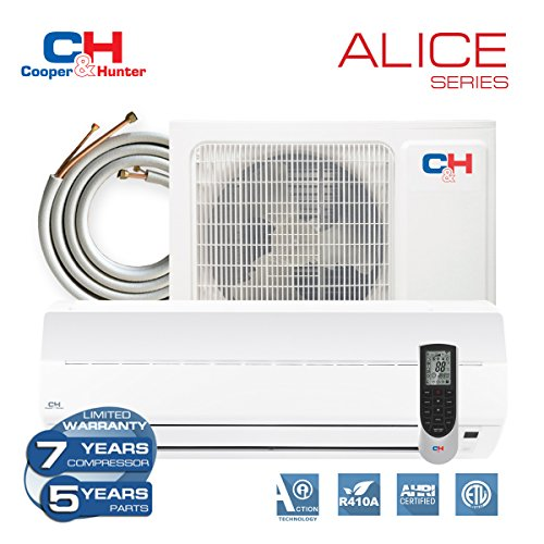 COOPER-AND-HUNTER-Alice-9000-BTU-230V-Mini-Split-Ductless-Air-Conditioner-Heat-Pump-16-SEER-with-16ft-Copper-line