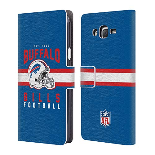 Card Bills Buffalo Credit (Official NFL Helmet Typography 2018/19 Buffalo Bills Leather Book Wallet Case Cover for Samsung Galaxy J7)