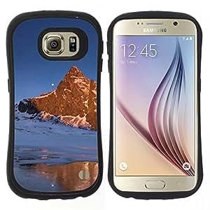 """Hypernova Slim Fit Dual Barniz Protector Caso Case Funda Para Samsung Galaxy S6 [Naturaleza Moon Mountain""""]"""