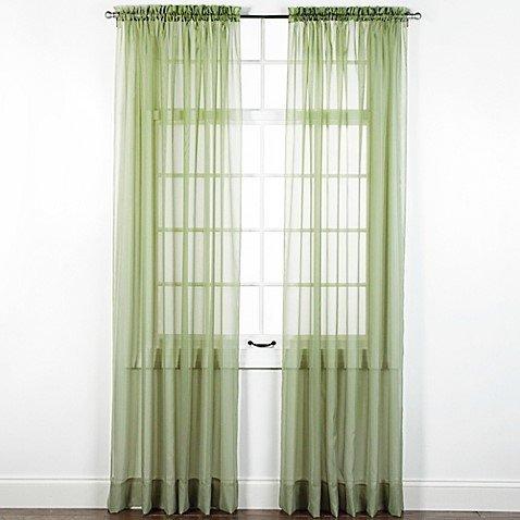 "1 BRONZE GROMMET SHEER WINDOW PANEL CURTAIN TREATME DRAPE RUBY SAGE GREEN 95/"""