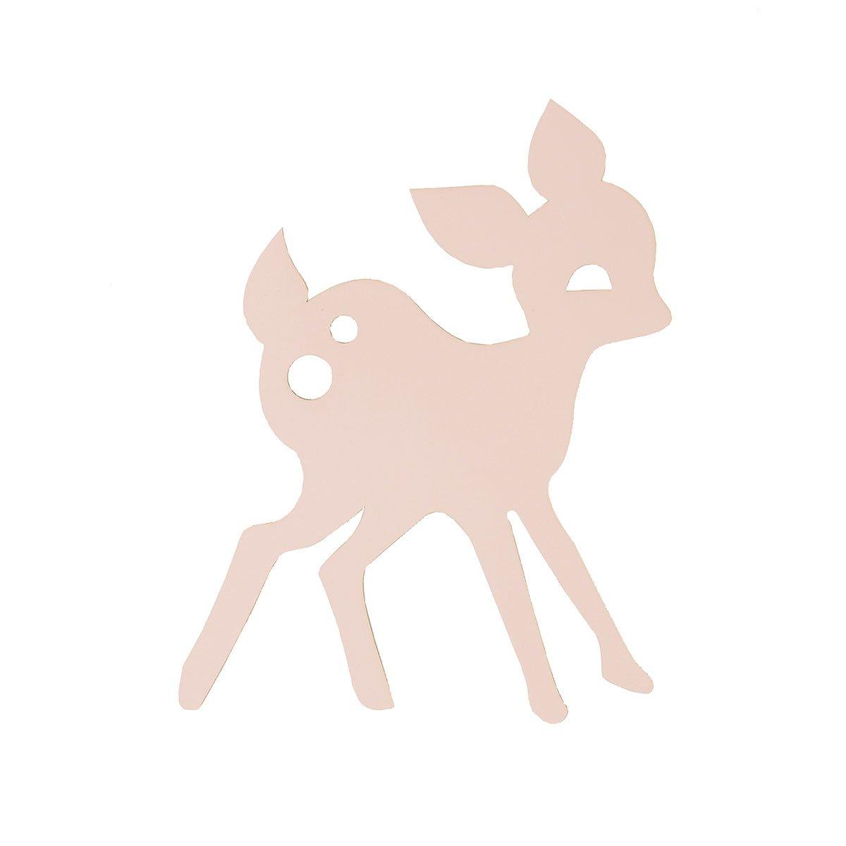Ferm Living - Lampe My Deer- Reh - Rosa 27 x 38, 5 cm FE3171