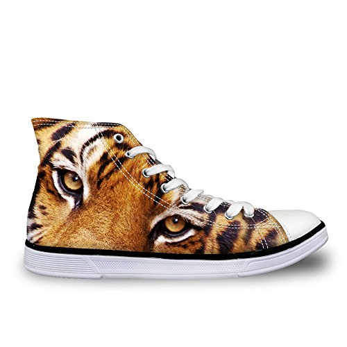 High Casual 3D Printed Top Sneakers Animals Men HUGS Flats Shoes Head IDEA Canvas Tiger 0nExqzzStw