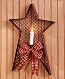 The Lakeside Collection Country Star Wall Sconce- Red