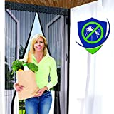 "Magnetic Screen Door - Fits 37""x82"" Doors (39""x83"" Fly Curtain) - Full Frame"