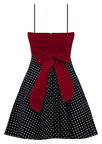 Polka Dot Rockabilly Robe Avec Jupon En Rouge Rouge