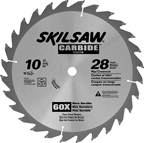SKIL 75128 Carbide-Tipped 28-Tooth Circular Saw Blade, 10