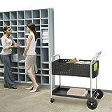 Safco 5239BL Scoot Mail Cart, One-Shelf, 22-1/2w