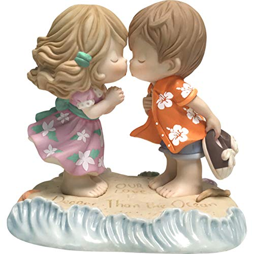 (Precious Moments Love is Deeper Than The Ocean Bisque Porcelain 183001 Figurine One Size Multi)