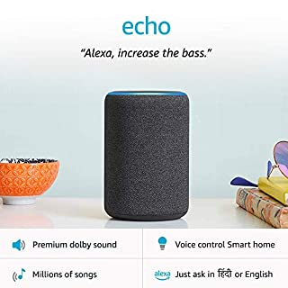 51KG zwbSnL. SS320 Amazon Echo (3rd Gen) – Improved sound, powered by Dolby (Black)