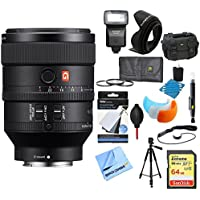Sony (SEL100F28GM) FE 100mm F2.8 STF GM OSS Lens for Sony Ultimate Accessory Bundle includes Lens, 64GB Memory Card, Flash, Flash Cover, Tripod, 67mm Filter Kit, Lens Hood, Bag, Cleaning Kit and More