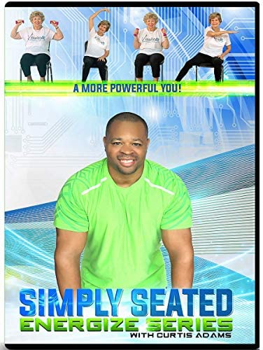 CHAIR EXERCISE DVD FOR SENIORS- Simply Seated is an invigorating Total Body Chair Workout. Warm up, Aerobic Endurance, Strengthening, Stretching. You will love this chair workout for seniors DVDs