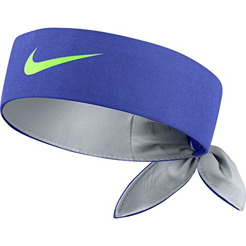 NIKE TENNIS HEADBAND (PARAMOUNT BLUE/WOLF GREY/GHOST GREEN, One Size)