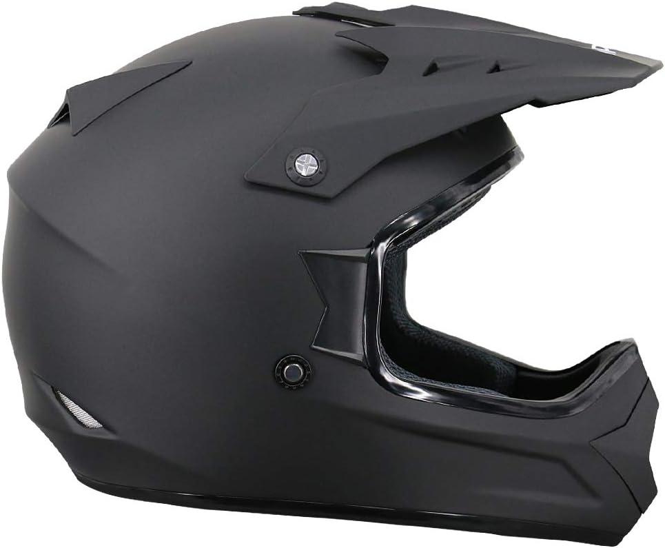 61-62cm Leopard LEOX307 Moto Cross Integrale Donna e Uomo Omologato ECE Nero Opaco//Argento XL