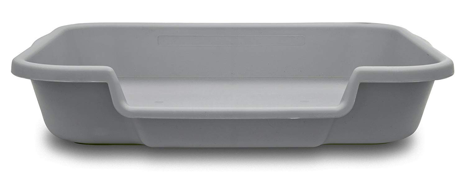 """PuppyGoHere Dog Litter Pan Misty Gray Color, Size: 24"""" x 20"""" x 5"""". Low Opening is on The 24"""" Side"""