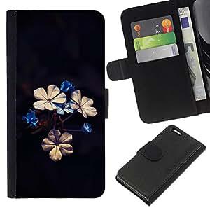KingStore / Leather Etui en cuir / Apple Iphone 5C / Hermosas flores