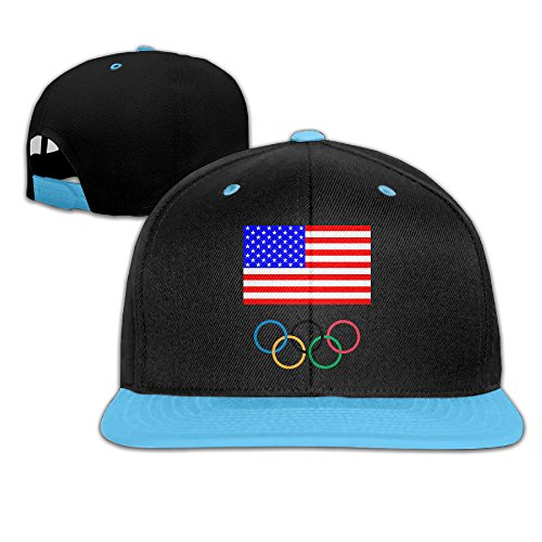 Babycu Kids America Flag 2016 Rio Summer Olympics Logo Adjustable Snapback Hip-hop Baseball Hat For Children ()