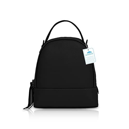 04a9aecc1767 Yoome Small Multifunction Leather Mini Backpack Purse Casual Travel Daypack  Shoulder Bag Handbag for Women Black  Amazon.co.uk  Shoes   Bags