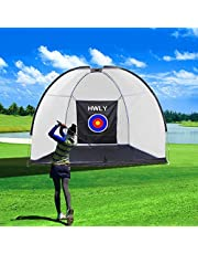 HWLY Golf Hitting Net Driving Range golfnetten voor gebruik binnenshuis met een transporttas, doelschijf