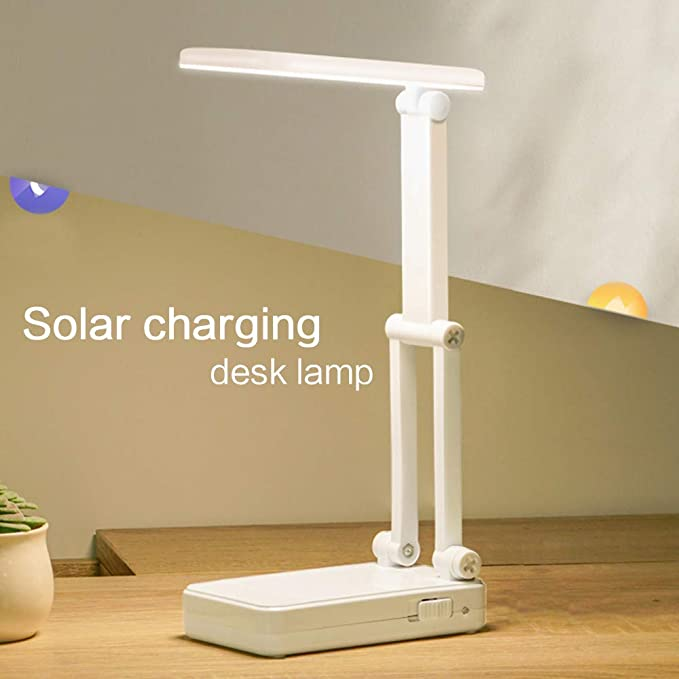 Led Lámpara De Mesa Solar Usb Carga Plegable Dimmer Cama Lámpara ...