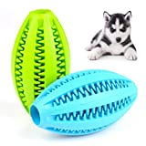 ATPWONZ 4.5″ Large Dog Treat Dispensing Toy Pet Tooth Cleaning Chewing Playing Ball Small Medium Large Dogs (2 Packs)