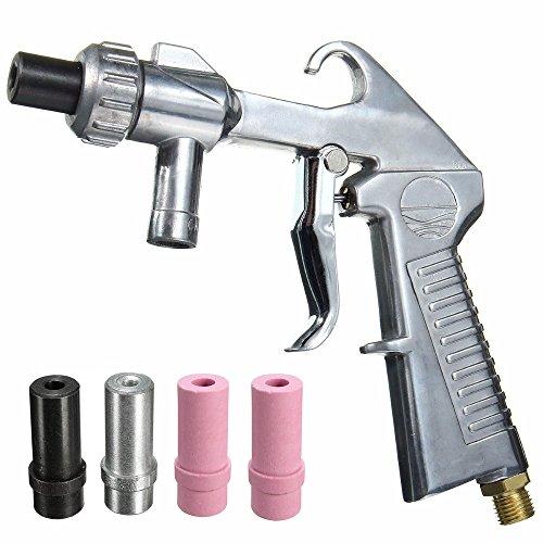 Jewboer Sandblaster Air Siphon Feed Blast Gun Nozzle Ceramic Tips Abrasive Sand Blasting ()
