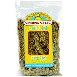 Vitakraft Sunseed Sun Seed Company BSS10971 Small Bird Millet Spray Treats, 7-Ounce