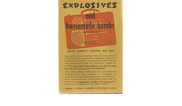 explosives and homemade bombs stoffel joseph