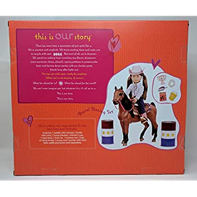 Our Generation Equestrian Barrel Racing Set: Toys & Games