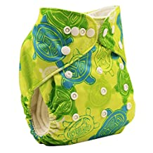 Happy Cherry Baby One Size Cloth Diaper Cover Snap for Prefolds, Turtle