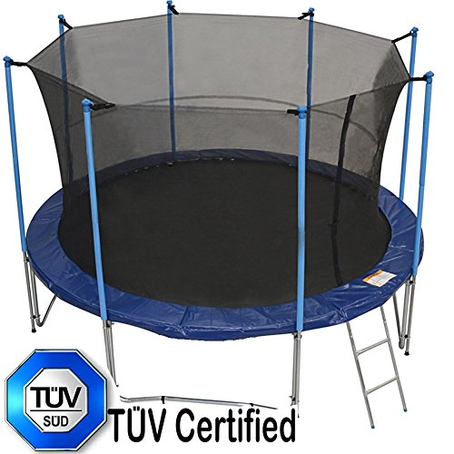 Zupapa 12 Ft Tuv Approved Trampoline With Pole And