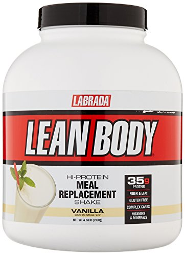 Labrada Nutrition – Lean Body Protein Meal Replacement Shake, Whey Protein Powder for Muscle Growth and Recovery, Vanilla, 4.63-LB Tub