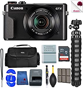 Canon PowerShot G7 X Mark II Digital Camera Black (1066C001) USA - Full Accessory Basic Bundle Package Deal