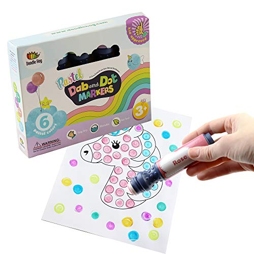 Pastel Washable Dot Art Markers for Toddlers & Kids 3 4 5 6 Years Old, Paint Markers for creating Unicorn Arts and Crafts. Stocking Stuffers Gift Idea for Preschool Art Supplies for Boys and Girls
