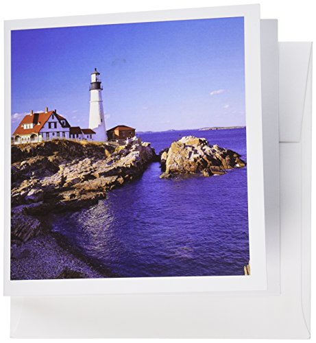 3dRose Maine, Portland Head Lighthouse - US20 RER0011 - Ric Ergenbright - Greeting Cards, 6 x 6 inches, set of 6 (gc_90758_1)