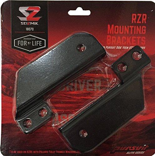 Seizmik 18070 Pursuit Mirror Mounts extension brackets for RZR 900s/ ()