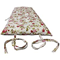 Brand New Full Size Rose White Traditional Japanese Floor Futon Mattresses, Foldable Cushion Mats, Yoga, Meditaion 54 Wide X 80 Long